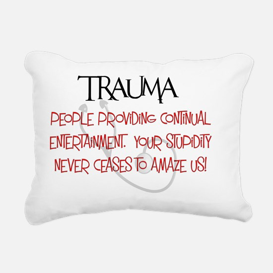 Trauma Entertainment and Rectangular Canvas Pillow