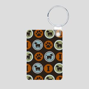 roundpoodle3gphone Aluminum Photo Keychain