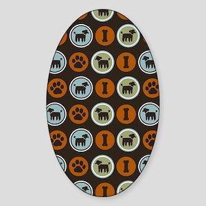 poodleflipflop Sticker (Oval)