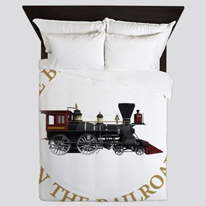 IVE BEEN WORKING ON THE RAILROAD GOLD  Queen Duvet
