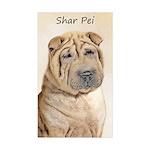 Shar Pei Sticker (Rectangle 50 pk)