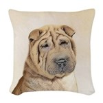 Shar Pei Woven Throw Pillow