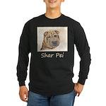Shar Pei Long Sleeve Dark T-Shirt
