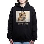 Shar Pei Women's Hooded Sweatshirt