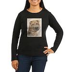 Shar Pei Women's Long Sleeve Dark T-Shirt