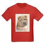 Shar Pei Kids Dark T-Shirt