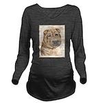 Shar Pei Long Sleeve Maternity T-Shirt