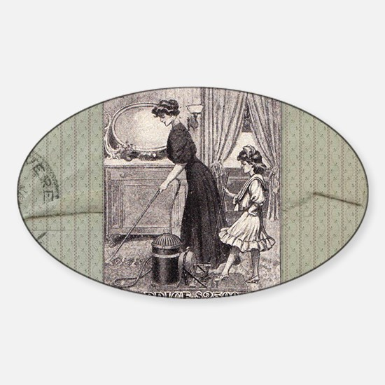 Vintage Ad Sticker (Oval)