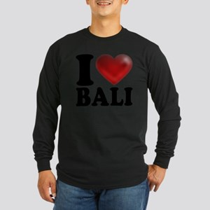 I Heart Bali Light Long Sleeve Dark T-Shirt