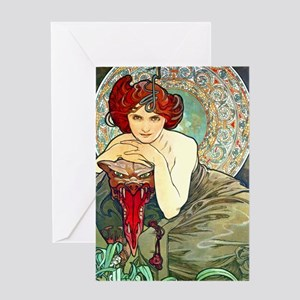 Mucha JewKin1 Greeting Card