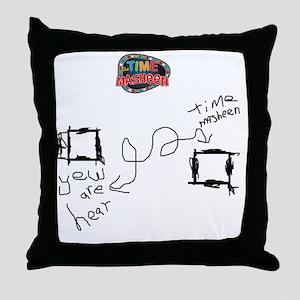 time-masheen Throw Pillow