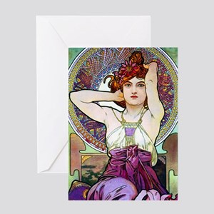 Mucha JewKin3 Greeting Card