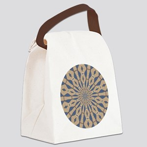 Spring Point Light Necklace Canvas Lunch Bag