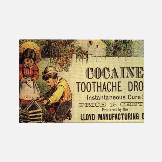 cocaine-toothdrops-tshirt-900x100 Rectangle Magnet