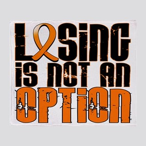 D Leukemia Losing Is Not An Option Throw Blanket