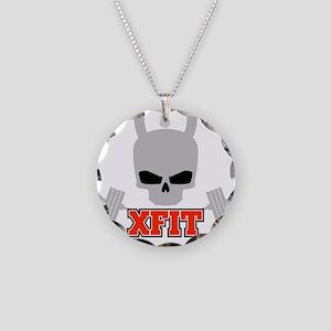 crossfit cross fit skull kettlebell dark Necklace