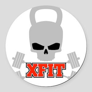 crossfit cross fit skull kettlebell dark Round Car