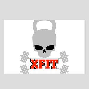 crossfit cross fit skull kettlebell dark Postcards