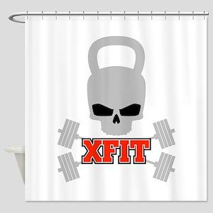 crossfit cross fit skull kettlebell dark Shower Cu