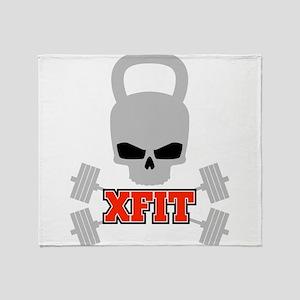 crossfit cross fit skull kettlebell dark Throw Bla