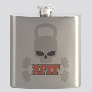 crossfit cross fit skull kettlebell dark Flask