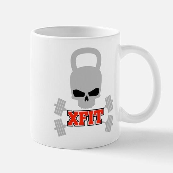 crossfit cross fit skull kettlebell dark Mugs