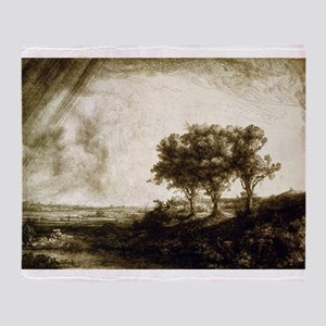 The three trees - Rembrandt - 1643 Throw Blanket