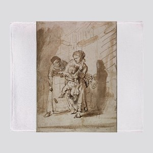The Unruly Child - Rembrandt - c1635 Throw Blanket