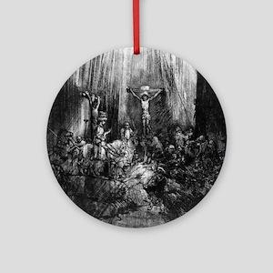 The three crosses - Rembrandt - 1653 Round Ornamen