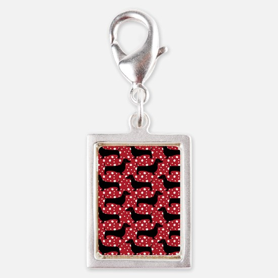 Red Polka Doxies Charms