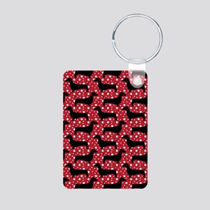 Red Polka Doxies Keychains