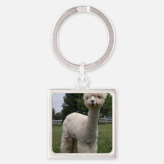 Deuce in Pasture Square Keychain