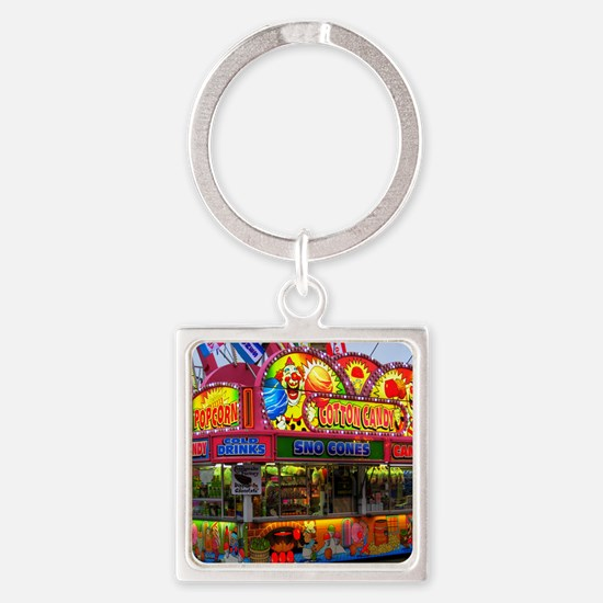 clown cotton candy Square Keychain