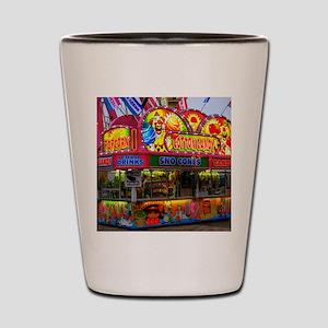 clown cotton candy Shot Glass