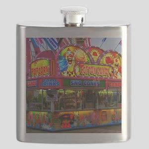 clown cotton candy Flask