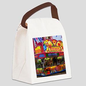clown cotton candy Canvas Lunch Bag