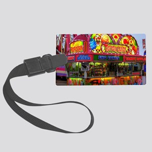 clown cotton candy Large Luggage Tag