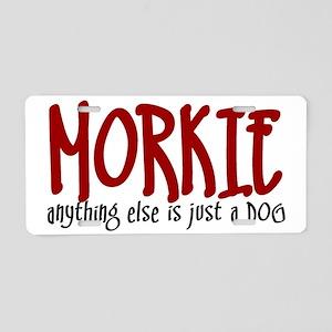 justadog-morkie Aluminum License Plate