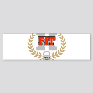 crossfit cross fit champion dark Bumper Sticker