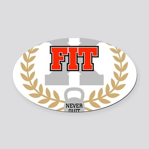 crossfit cross fit champion dark Oval Car Magnet