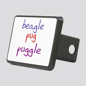 puggle_black Rectangular Hitch Cover