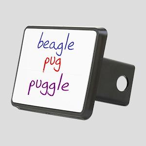 puggle_black Rectangular Hitch Cover