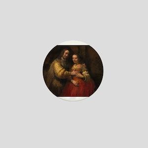 The Jewish bride - Rembrandt - c1665 Mini Button