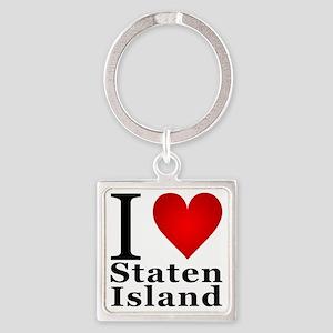 ilovestatenisland Square Keychain