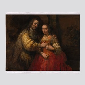 The Jewish bride - Rembrandt - c1665 Throw Blanket