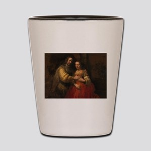 The Jewish bride - Rembrandt - c1665 Shot Glass