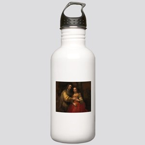 The Jewish bride - Rembrandt - c1665 Water Bottle