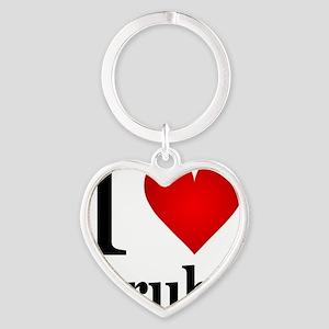ilovearuba Heart Keychain