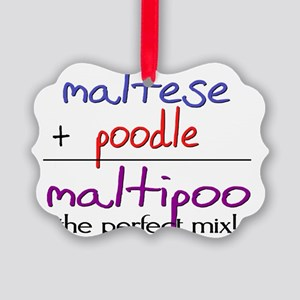 maltipoo Picture Ornament