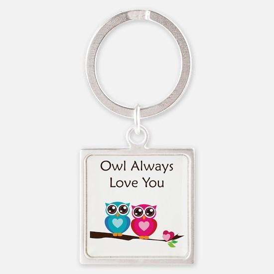 owl10 Square Keychain
